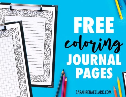 Free Printable Coloring Journal Pages