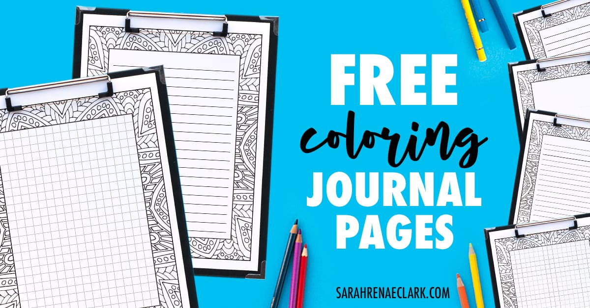 get these free printable journal pages that you can color in it