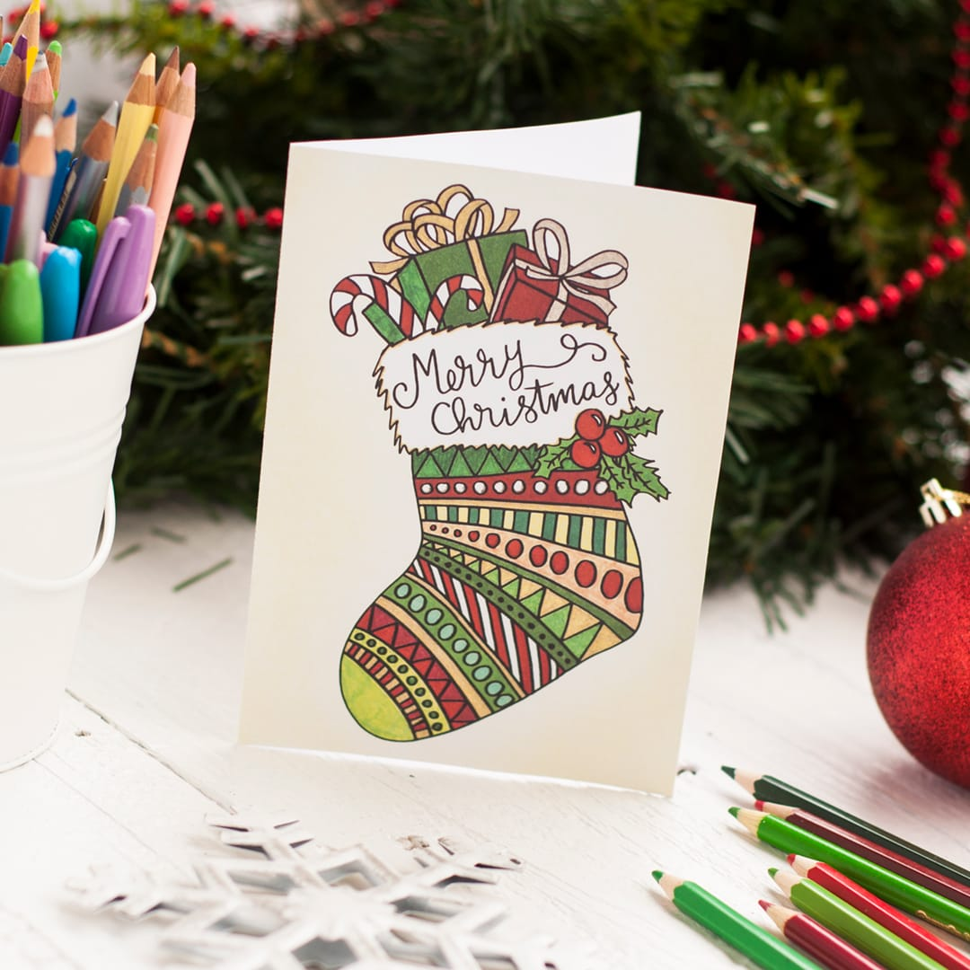 Free christmas coloring card sarah renae clark coloring book free printable christmas coloring card printable coloring template to create your own cute diy christmas m4hsunfo