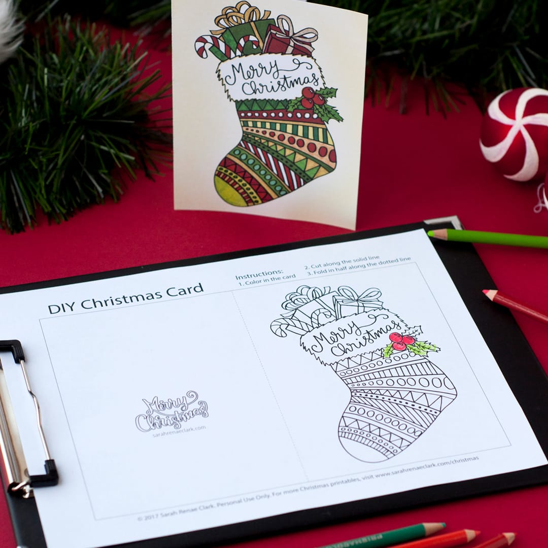 Free Christmas Coloring Card