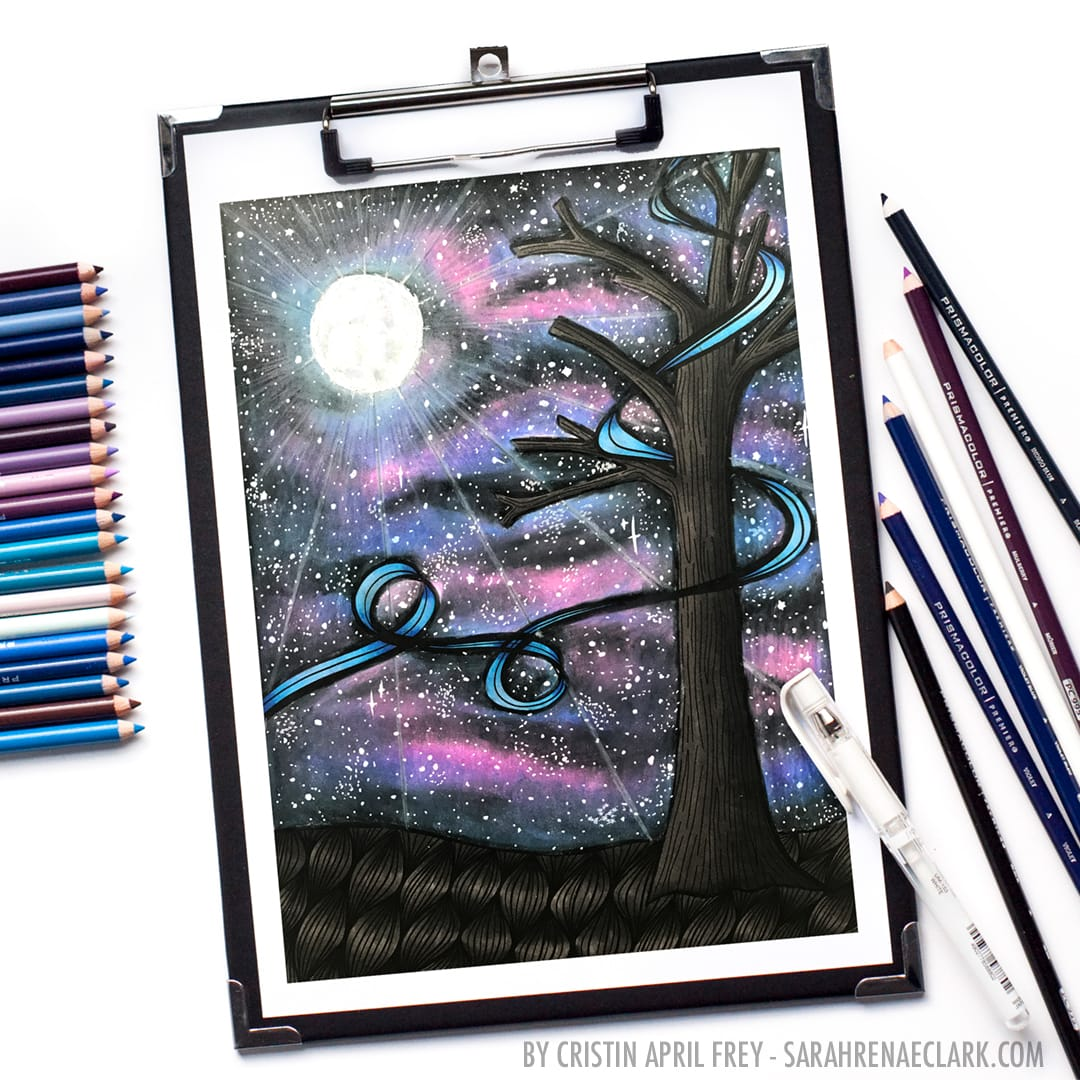 How to create a galaxy with colored pencils prismacolor