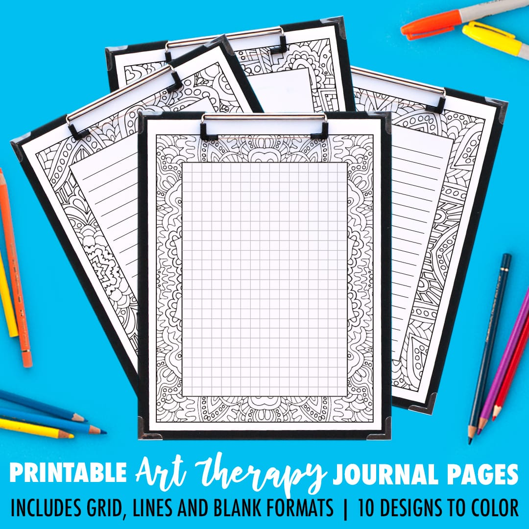 graphic regarding Printable Journal Pages identify Magazine Web pages Artwork Cure Collection A 10 Pack