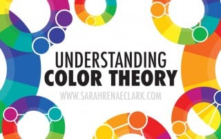 Learn about the color wheel, primary colors, secondary colors, tertiary colors and color harmonies with this handy guide. Read more at www.sarahrenaeclark.com #colortheory #color
