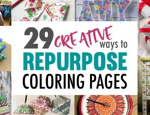 29 Creative Ways to Repurpose Coloring Pages