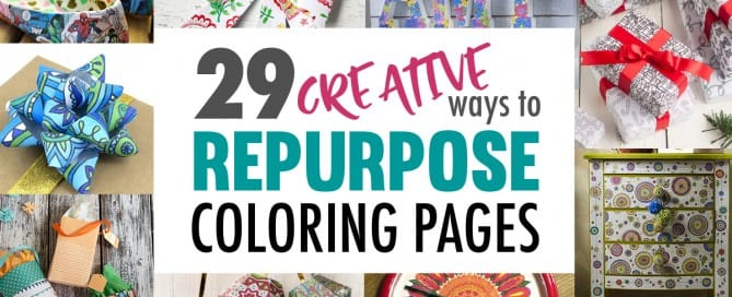 Not sure what to do with your finished coloring pages? Check out these 29 you can make with them! #coloringpage #crafts www.sarahrenaeclark.com