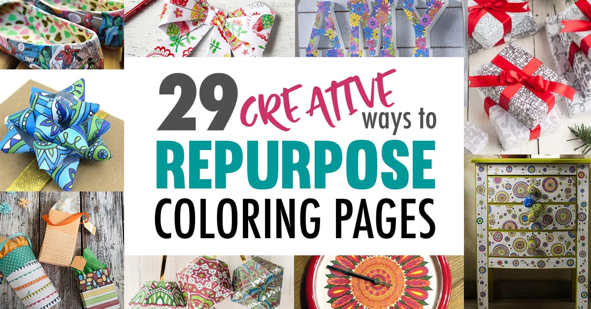 29 Creative Ways To Repurpose Coloring Pages - Sarah Renae Clark - Coloring  Book Artist And Designer