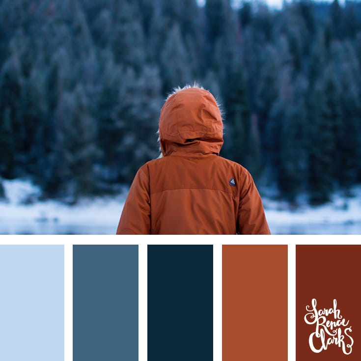 Warm vibes // Winter Color Schemes // Click for more winter color combinations, mood boards and seasonal color palettes at http://sarahrenaeclark.com #color #colorscheme #colorinspiration