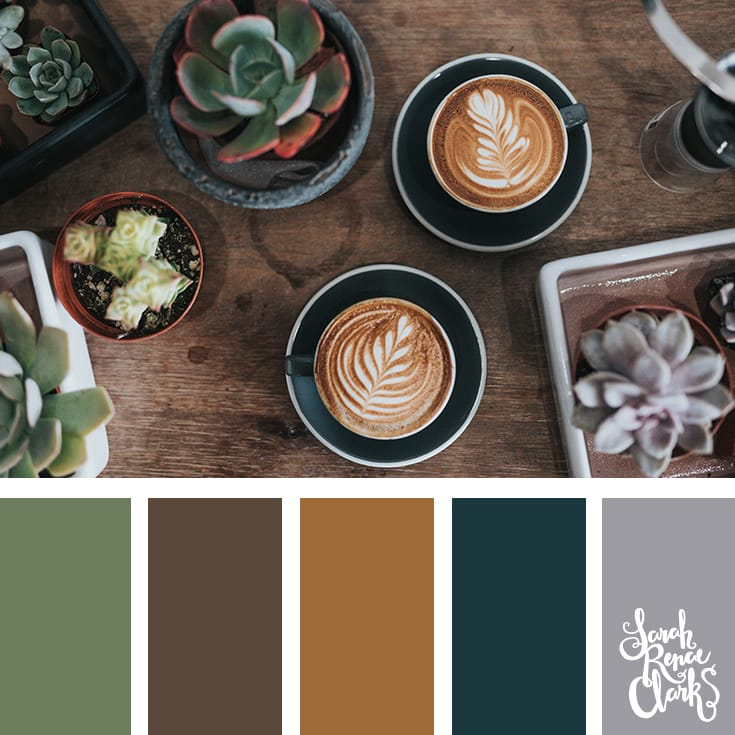 Coffee colors // Winter Color Schemes // Click for more winter color combinations, mood boards and seasonal color palettes at http://sarahrenaeclark.com #color #colorscheme #colorinspiration