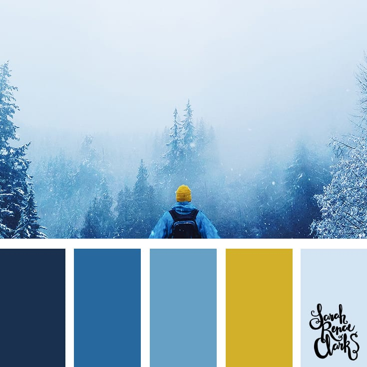 Winter storm // Winter Color Schemes // Click for more winter color combinations, mood boards and seasonal color palettes at http://sarahrenaeclark.com #color #colorscheme #colorinspiration