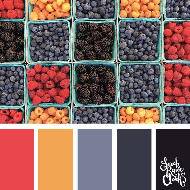 Colorful winter fruits // Winter Color Schemes // Click for more winter color combinations, mood boards and seasonal color palettes at http://sarahrenaeclark.com #color #colorscheme #colorinspiration