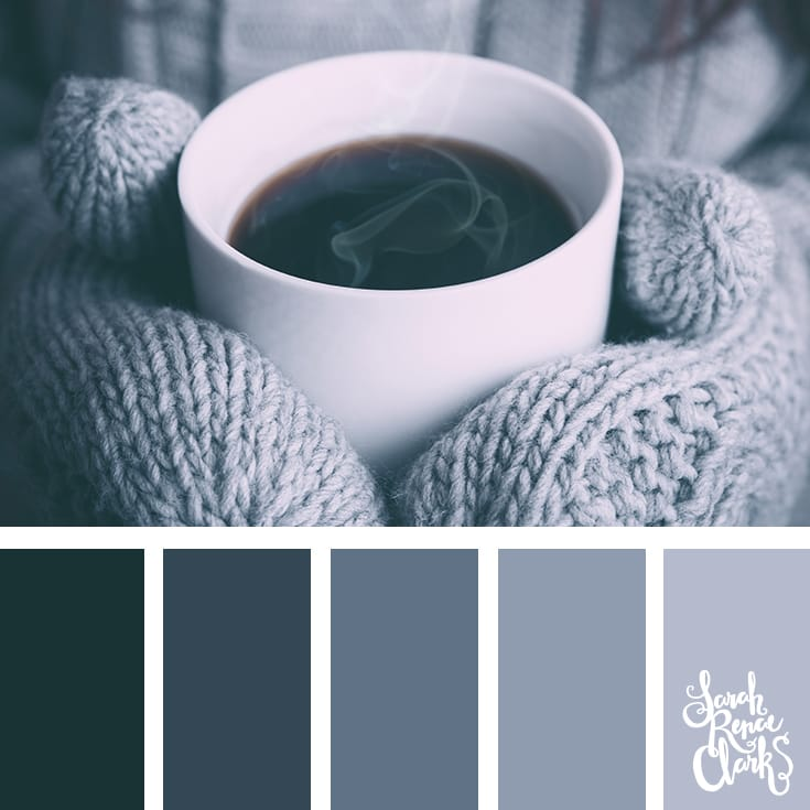 Gray color palette // Winter Color Schemes // Click for more winter color combinations, mood boards and seasonal color palettes at http://sarahrenaeclark.com #color #colorscheme #colorinspiration