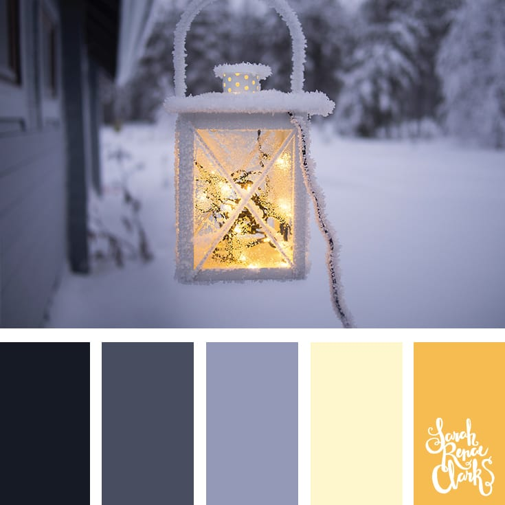 Light in the cold // Winter Color Schemes // Click for more winter color combinations, mood boards and seasonal color palettes at http://sarahrenaeclark.com #color #colorscheme #colorinspiration
