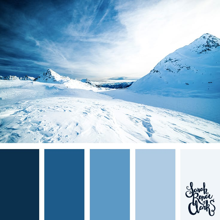 Snow color inspiration // Winter Color Schemes // Click for more winter color combinations, mood boards and seasonal color palettes at http://sarahrenaeclark.com #color #colorscheme #colorinspiration