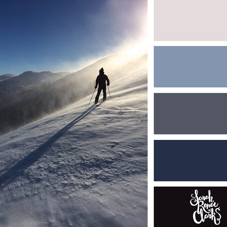Blue color scheme // Winter Color Schemes // Click for more winter color combinations, mood boards and seasonal color palettes at http://sarahrenaeclark.com #color #colorscheme #colorinspiration