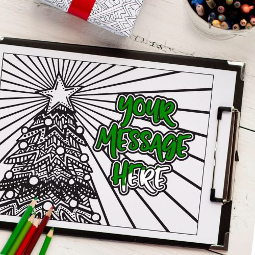 Get a personalized Christmas coloring page made from your own message! #personalized #diychristmas #christmas
