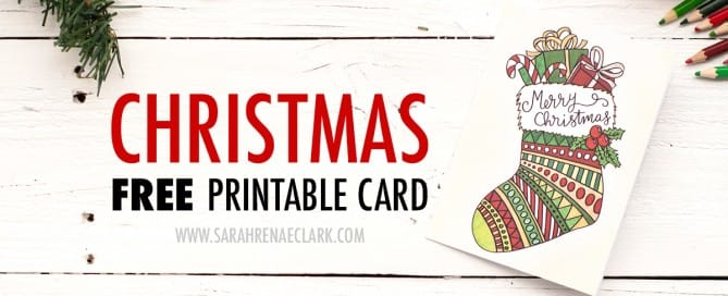Free Christmas card printable template // Find more coloring Christmas printables at sarahrenaeclark.com #free #christmas #printable