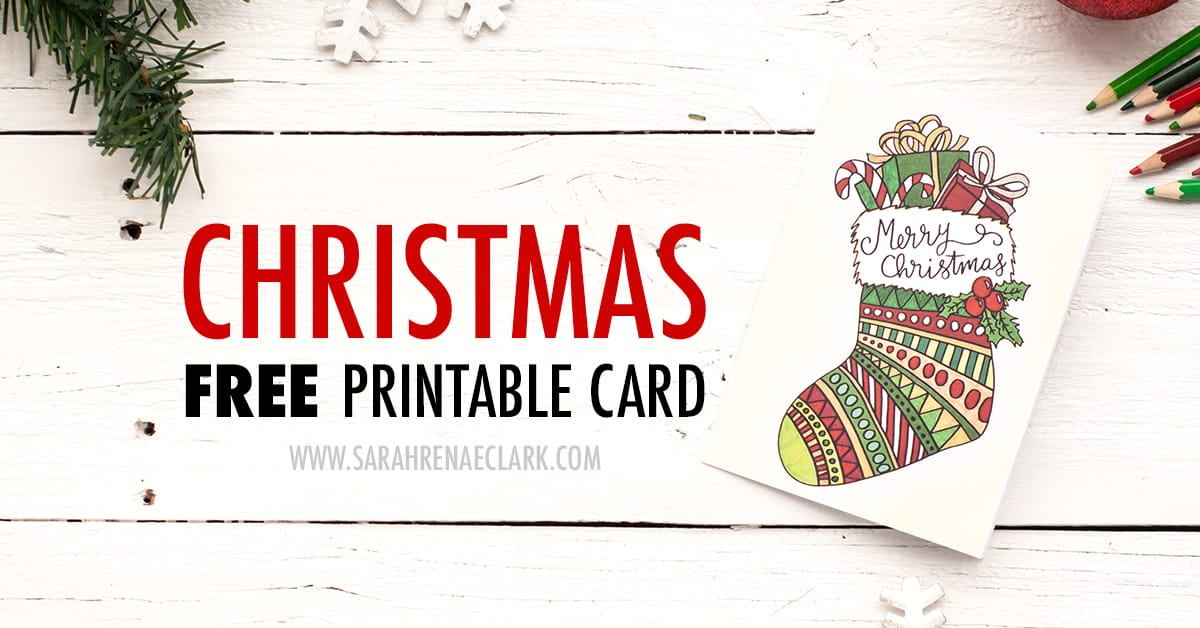 photo relating to Free Printable Photo Christmas Card Templates identify Absolutely free Xmas Card Printable Template (Coloring Web page