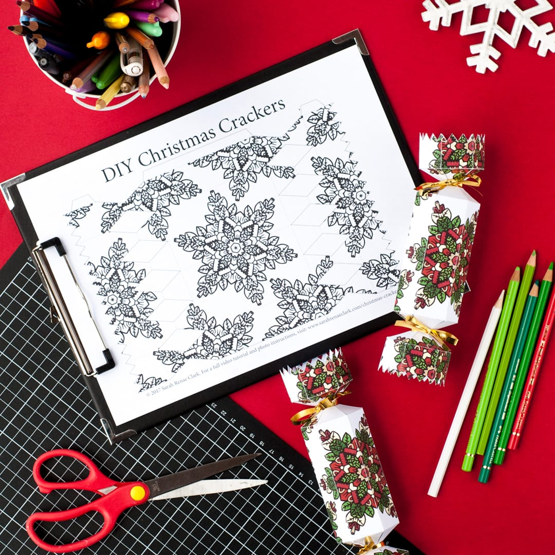 Free christmas cracker template sarah renae clark coloring book make your own christmas crackers with this free printable cracker template find more christmas printables solutioingenieria Image collections