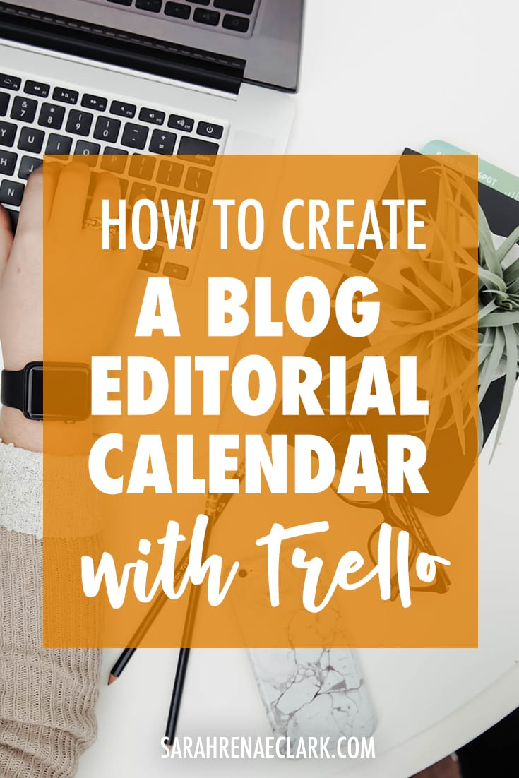 Use Trello to set up a blog editorial calendar! Let me show you how to be more productive and automate your blog planning process in this detailed video tutorial. Read more at sarahrenaeclark.com #trello #productivity #blogging