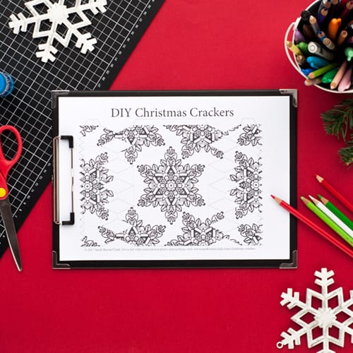 Step 1 // How to make a DIY Christmas Cracker with this easy tutorial and free cracker template! // www.sarahrenaeclark.com/christmas-cracker