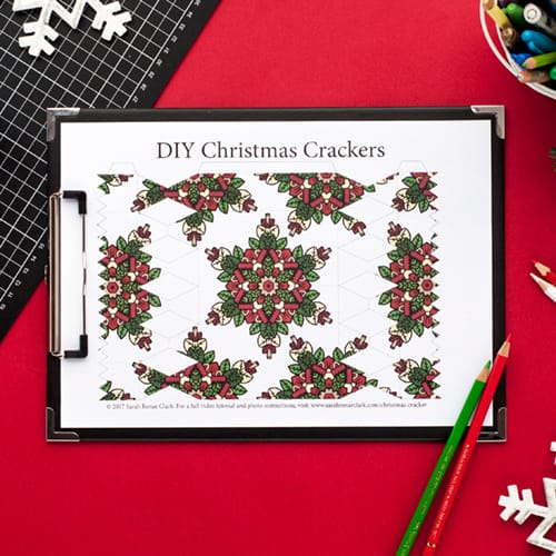 Step 2 // How to make a DIY Christmas Cracker with this easy tutorial and free cracker template! // www.sarahrenaeclark.com/christmas-cracker