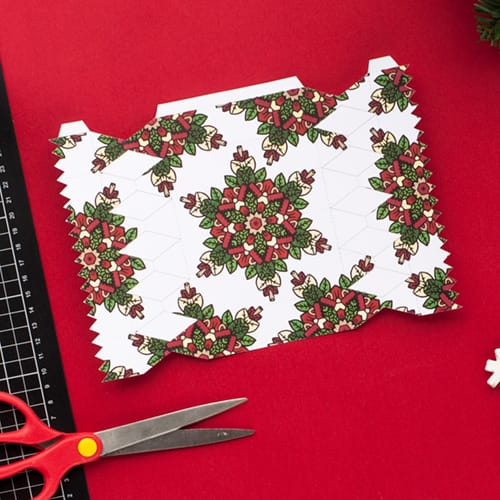 Step 3 // How to make a DIY Christmas Cracker with this easy tutorial and free cracker template! // www.sarahrenaeclark.com/christmas-cracker