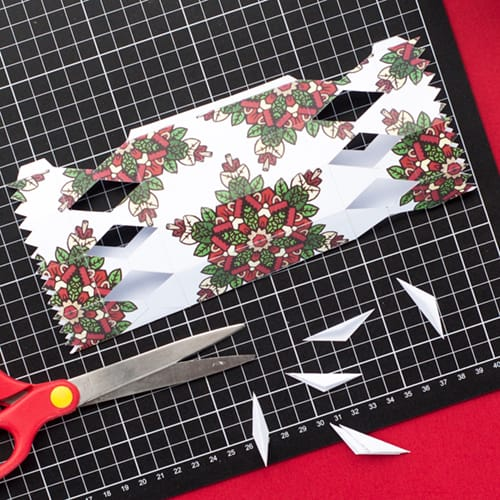 Step 7 // How to make a DIY Christmas Cracker with this easy tutorial and free cracker template! // www.sarahrenaeclark.com/christmas-cracker