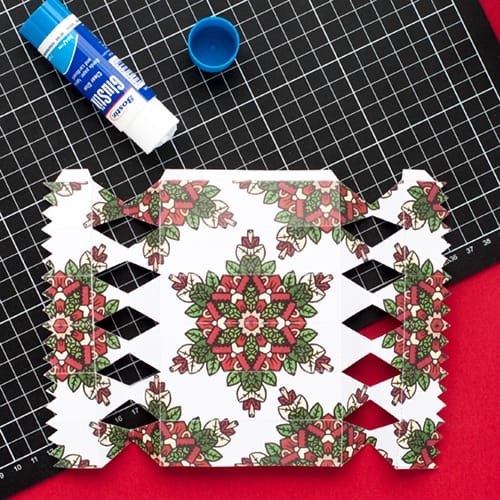 Step 9 // How to make a DIY Christmas Cracker with this easy tutorial and free cracker template! // www.sarahrenaeclark.com/christmas-cracker