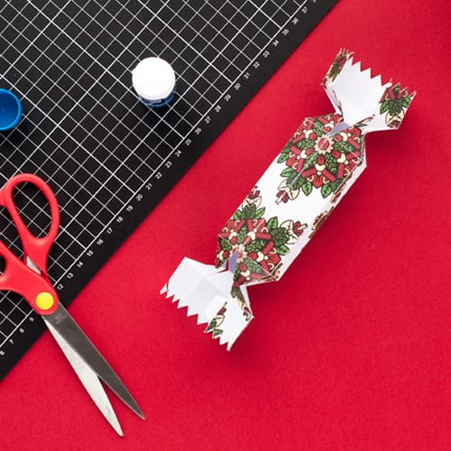 Step 10 // How to make a DIY Christmas Cracker with this easy tutorial and free cracker template! // www.sarahrenaeclark.com/christmas-cracker