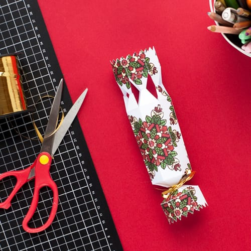 Step 11 // How to make a DIY Christmas Cracker with this easy tutorial and free cracker template! // www.sarahrenaeclark.com/christmas-cracker