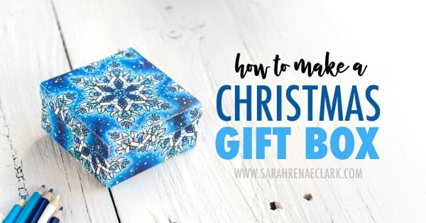 Learn how to make a Christmas gift box with this printable template and step-by-step tutorial. Read more at www.sarahrenaeclark.com/christmas-gift-box