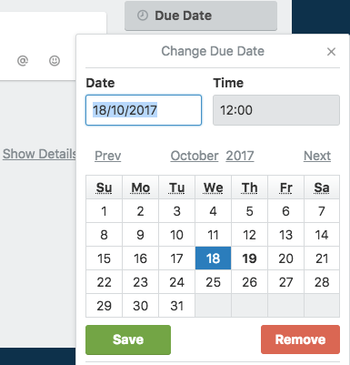 How to create a blog editorial calendar with Trello - due date