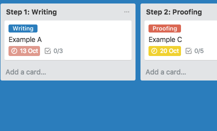 How to create a blog editorial calendar with Trello - lists