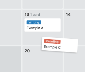 How to create a blog editorial calendar with Trello - change dates