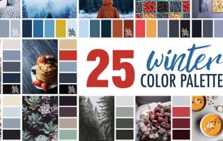 25 Winter Color Schemes | Click for more winter color combinations, mood boards and seasonal color palettes at https://sarahrenaeclark.com #color #colorscheme #colorinspiration