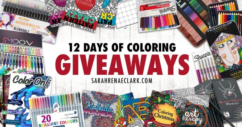 12 Days of Coloring Giveaways Over 300 in coloring