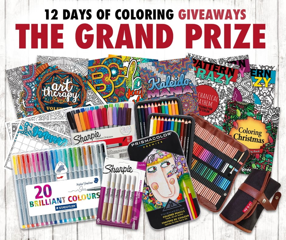 Over $300 in prizes for coloring book lovers in this huge giveaway! Enter at sarahrenaeclark.com/win