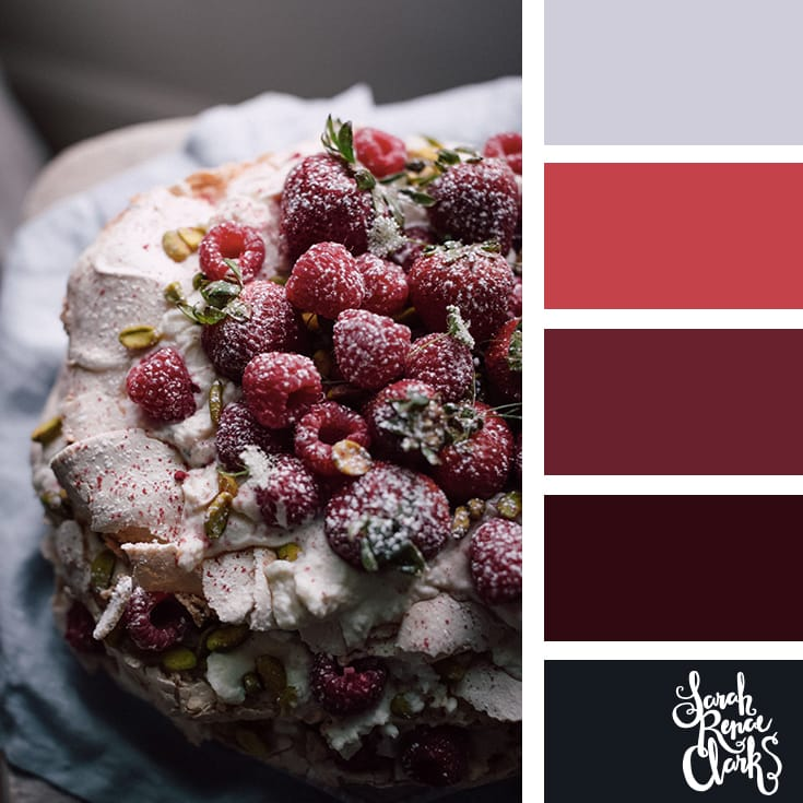 Red color scheme // Christmas Color Schemes // Click for more Christmas color palettes, mood boards and color combinations at https://sarahrenaeclark.com #color #colorscheme #colorpalette