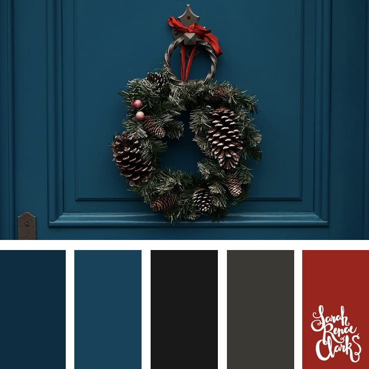 Blue color scheme // Christmas Color Schemes // Click for more Christmas color palettes, mood boards and color combinations at https://sarahrenaeclark.com #color #colorscheme #colorpalette