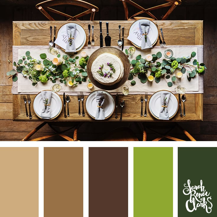 Christmas dinner hues // Christmas Color Schemes // Click for more Christmas color palettes, mood boards and color combinations at https://sarahrenaeclark.com #color #colorscheme #colorpalette