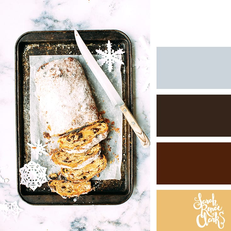 Christmas loaf // Christmas Color Schemes // Click for more Christmas color palettes, mood boards and color combinations at https://sarahrenaeclark.com #color #colorscheme #colorpalette