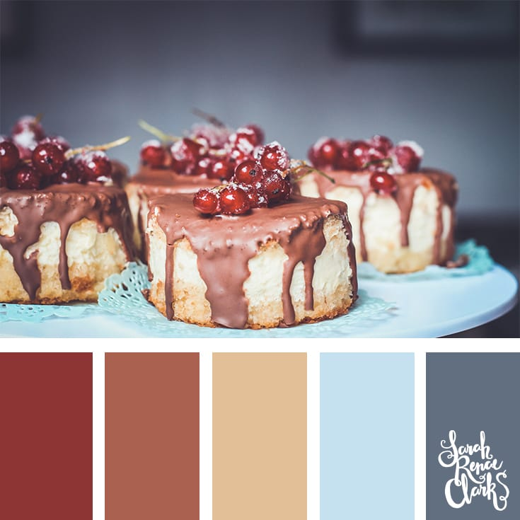 Yummy Christmas colors // Christmas Color Schemes // Click for more Christmas color palettes, mood boards and color combinations at https://sarahrenaeclark.com #color #colorscheme #colorpalette