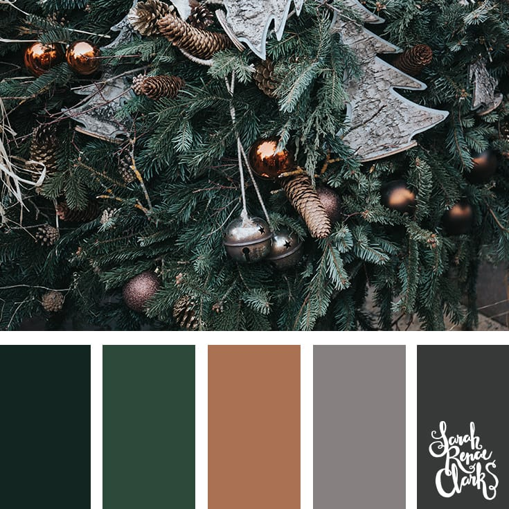 Christmas tree colors // Christmas Color Schemes // Click for more Christmas color palettes, mood boards and color combinations at https://sarahrenaeclark.com #color #colorscheme #colorpalette
