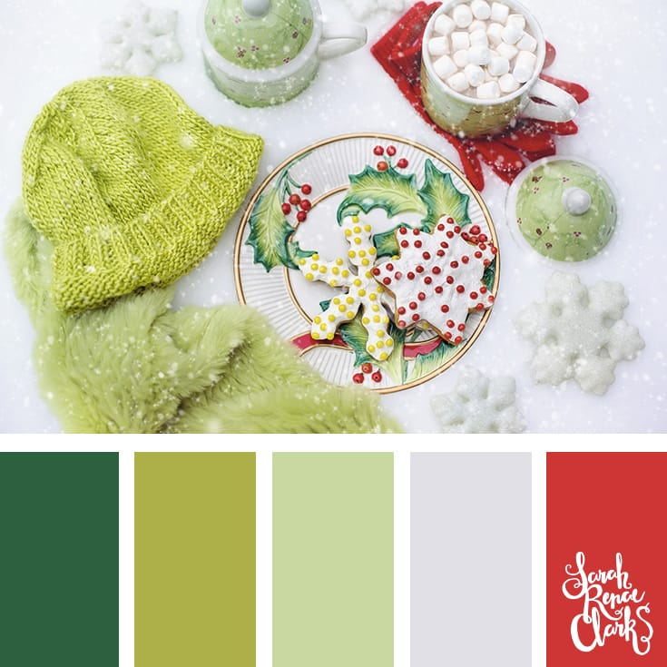 Warm Christmas sweets // Christmas Color Schemes // Click for more Christmas color palettes, mood boards and color combinations at https://sarahrenaeclark.com #color #colorscheme #colorpalette