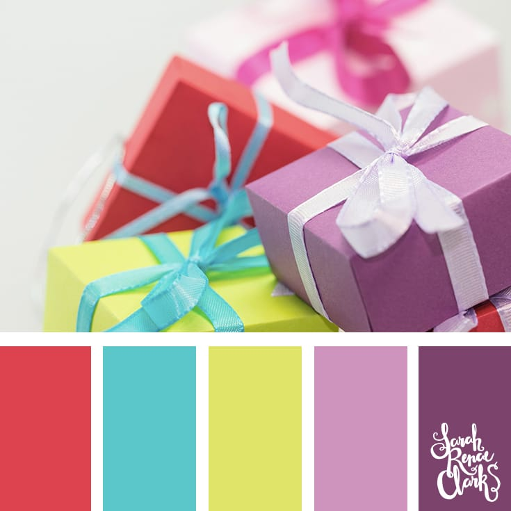 Christmas gifts // Christmas Color Schemes // Click for more Christmas color palettes, mood boards and color combinations at https://sarahrenaeclark.com #color #colorscheme #colorpalette