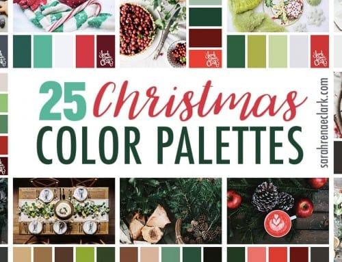 25 Christmas Color Palettes