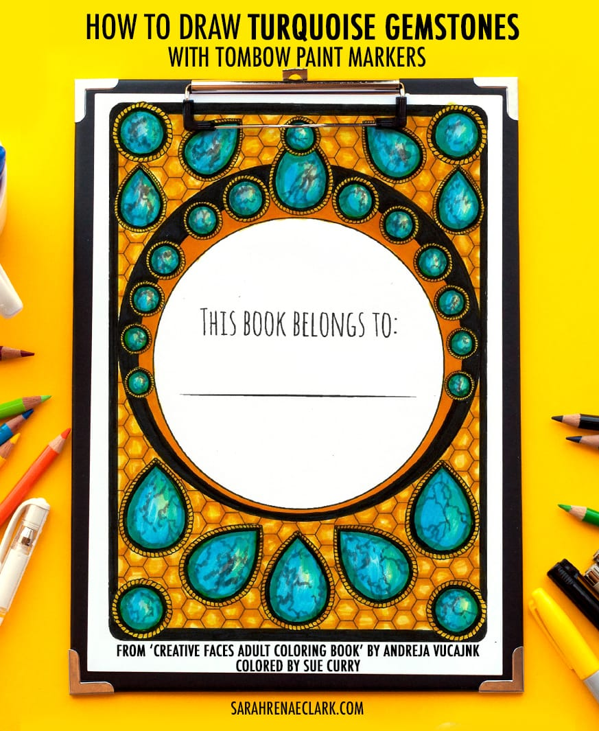 Gemstone Adult Coloring Tutorial