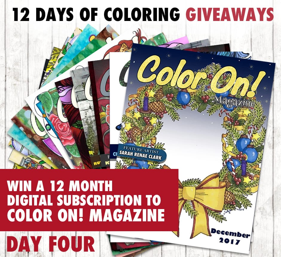 Enter to win today's coloring prize in the 12 Days of Coloring Giveaways! Find out more at sarahrenaeclark.com #giveaway