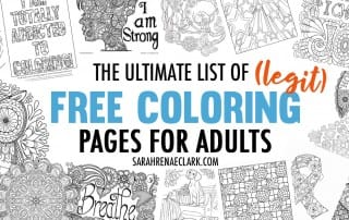 The Ultimate List of (Legit) Free Coloring Pages for Adults - Hundreds of free coloring pages from over 60 artists