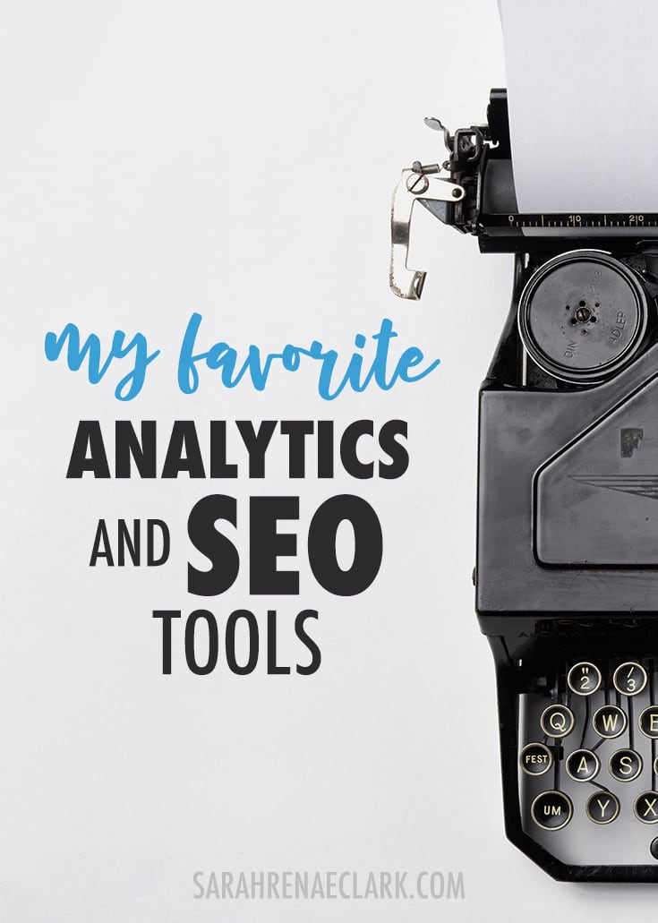 Want to improve your SEO and analytics? Here's my favorite analytics and SEO tools I use in my own creative business. Click to read more and see my other favorite business tools!